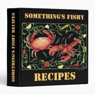 Algo es a pescado, carpeta de las recetas