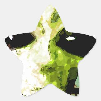 algo extraño pegatina en forma de estrella