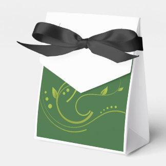 Algo fase verde en fondo verde oscuro cajas para regalos de fiestas
