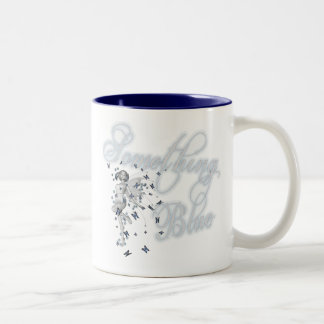Algo hada azul de la mariposa - original taza de dos tonos