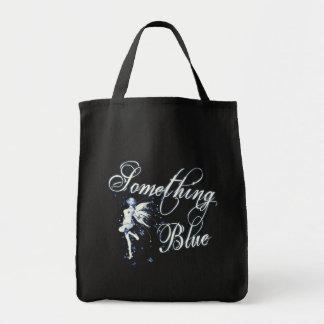 Algo hada azul de la mariposa - vintage Cyanotype Bolsa De Mano