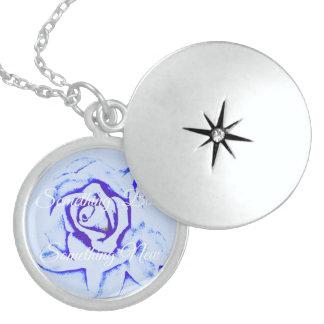 Algo nuevo algo Locket azul del día de boda Medallones