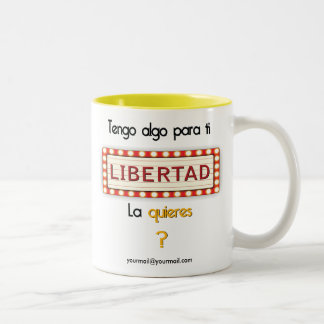 Algo para ti - Display Two-Tone Coffee Mug