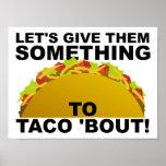 Algo poster divertido del combate del Taco '