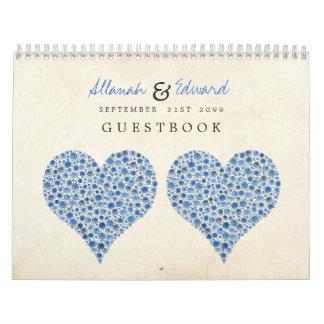 Algo rosas azules del corazón que casan el libro d calendarios