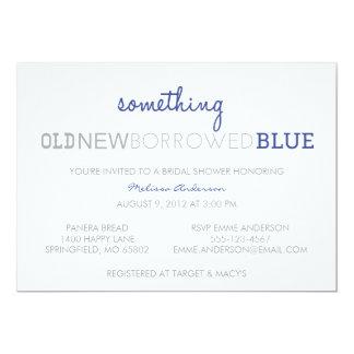 """Algo viejo, nuevo, pedido prestado, azul invitación 5"""" x 7"""""""