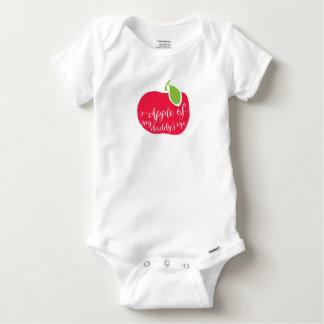 """Algodón """"Apple del bebé del ojo de mi papá Camisas"""