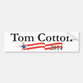 Algodón de Tom para el senado 2014 Pegatina De Parachoque