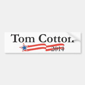 Algodón de Tom para el senado 2014 Pegatina Para Auto