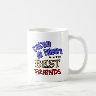 Algodón de Tulears Are los mejores amigos Taza