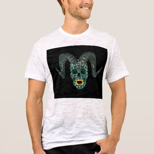 Algodón destruido negro 100% de la camiseta