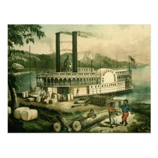 Algodón en el Mississippi, 1870 del cargamento Postal