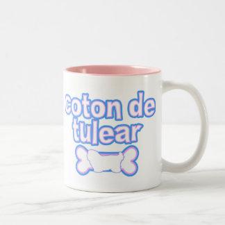 Algodón rosado y azul de Tulear Mug Taza Dos Tonos