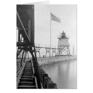 Algoma Pierhead Lighthouse Card