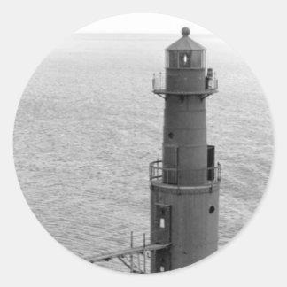 Algoma Pierhead Lighthouse Classic Round Sticker