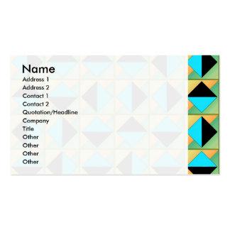 Algorithmic geometric art business card