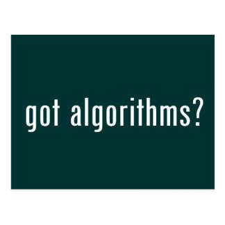¿algoritmos conseguidos? tarjetas postales