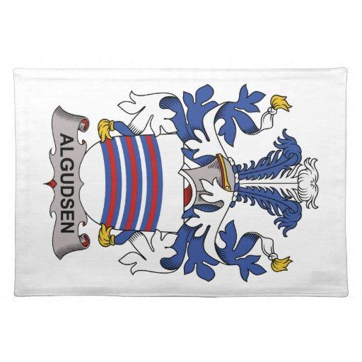 Algudsen Family Crest Cloth Place Mat