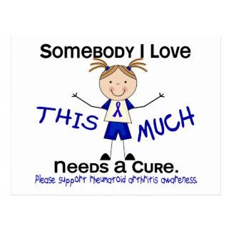Alguien amor de I - artritis reumatoide (chica) Postales