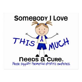 Alguien amor de I - artritis reumatoide (chica) Postal