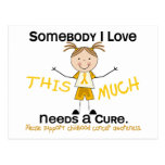 Alguien amor de I - cáncer de la niñez (chica) Tarjetas Postales