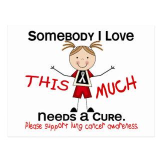 Alguien amor de I - cáncer de pulmón (chica) Tarjetas Postales
