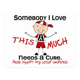 Alguien amor de I - cáncer de pulmón (muchacho) Postal