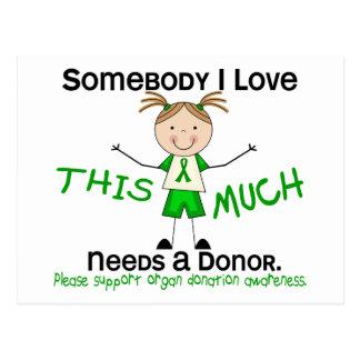 Alguien amor de I - donación de órganos (chica) Tarjetas Postales