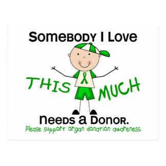 Alguien amor de I - donación de órganos (muchacho) Postales