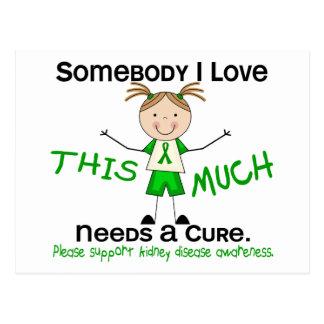 Alguien amor de I - enfermedad de riñón (chica) Postales