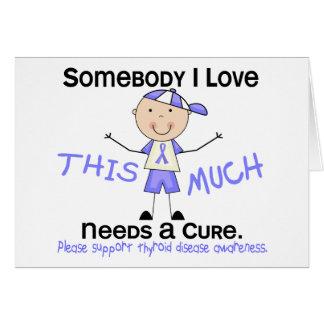 Alguien amor de I - enfermedad de tiroides (muchac Tarjeta De Felicitación