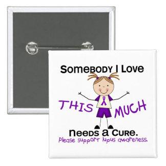 Alguien amor de I - lupus (chica) Pin Cuadrado