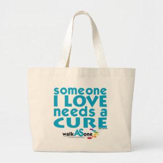 Alguien amor de I necesita una curación Bolsa De Tela Grande
