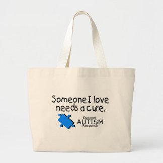 Alguien amor de I necesita una curación (el autism Bolsa Tela Grande