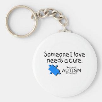 Alguien amor de I necesita una curación (el autism Llavero Redondo Tipo Pin