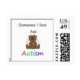 Alguien amor de I tiene autismo (el oso del chica) Sellos