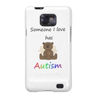 Alguien amor de I tiene autismo (el oso del muchac Galaxy SII Carcasa