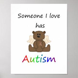 Alguien amor de I tiene autismo (el oso del muchac Posters
