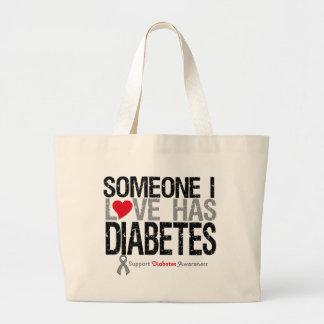 Alguien amor de I tiene diabetes Bolsa De Mano
