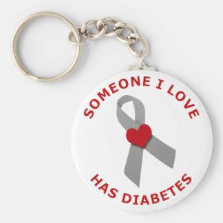 Alguien amor de I tiene diabetes Llavero Redondo Tipo Pin