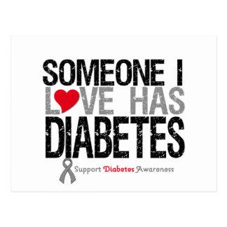 Alguien amor de I tiene diabetes Postal