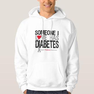Alguien amor de I tiene diabetes Sudadera Encapuchada