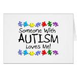 Alguien con autismo me ama felicitación