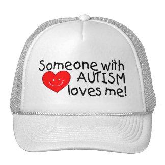 Alguien con autismo me ama (Hrt) Gorro De Camionero
