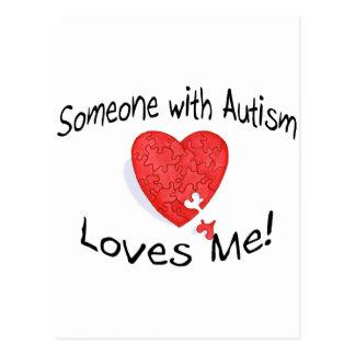 Alguien con autismo me ama (P Hrt) Postal