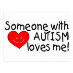 Alguien con autismo me ama postales