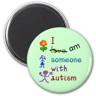 Alguien con los imanes del autismo imán redondo 5 cm