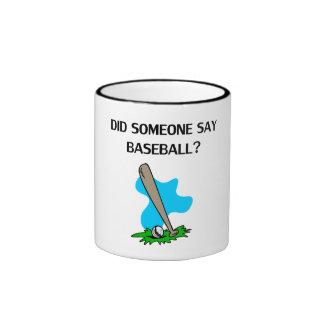 ¿Alguien dijo béisbol? Taza A Dos Colores