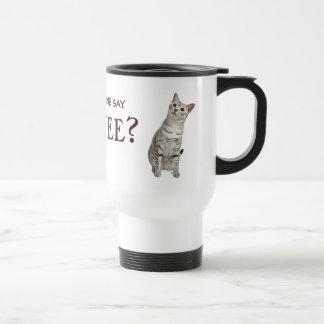 ¿Alguien dijo el café? Taza del gato