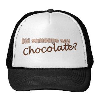 ¿Alguien dijo el chocolate? Gorras De Camionero